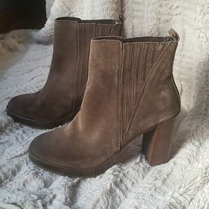 Aldo Suede Short Brown Boots-Never Worn
